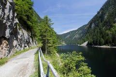 Panorama del lago austria Immagini Stock