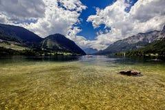 Panorama del lago austria Grundlsee Fotografie Stock