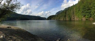 Panorama del lago Buntzen Fotografia Stock Libera da Diritti