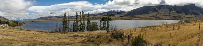 Panorama del lago Clearwater, Nueva Zelanda Fotos de archivo libres de regalías