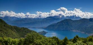 Panorama del lago Como Fotografia Stock Libera da Diritti