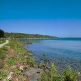 Panorama del lago con gli yacht Fotografia Stock Libera da Diritti