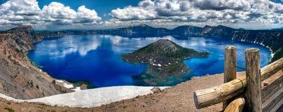 Panorama del lago crater Fotografie Stock