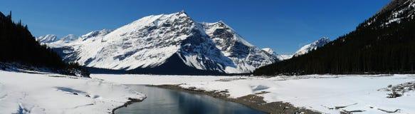 Panorama del lago della montagna Immagine Stock