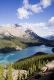 Panorama del lago di peyto fotografie stock