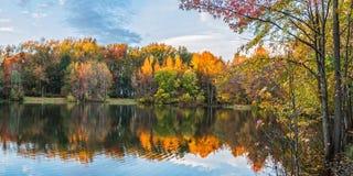 Panorama del lago holiday Imagen de archivo