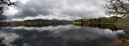 Panorama del lago Rannoch, Scozia Fotografie Stock Libere da Diritti