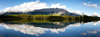 Panorama del lago Spillway immagine stock