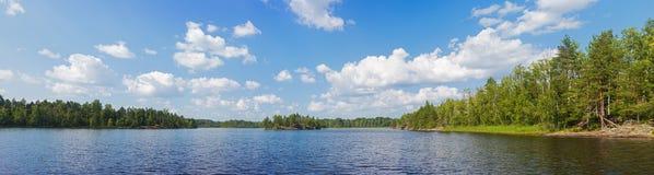 Panorama del lago summer Fotografía de archivo libre de regalías