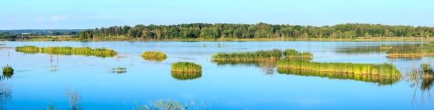 Panorama del lago summer Immagini Stock