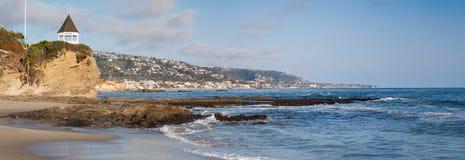 Panorama del Laguna Beach imagenes de archivo