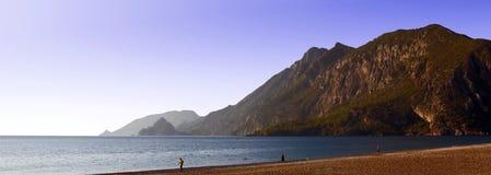 Panorama del litorale di mare fotografia stock