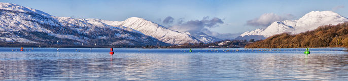 Panorama del Loch Lomond Immagine Stock