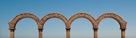 Panorama del Los Arcos en México Imagen de archivo