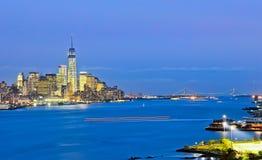 Panorama del Lower Manhattan imagen de archivo libre de regalías