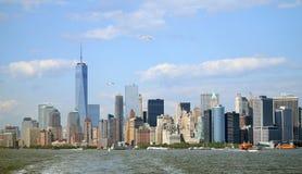 Panorama del Lower Manhattan fotos de archivo