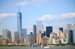 Panorama del Lower Manhattan fotografía de archivo