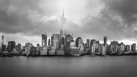 Panorama del Lower Manhattan, New York Fotografia Stock Libera da Diritti