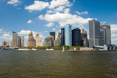 Panorama del Lower Manhattan a New York City Fotografia Stock
