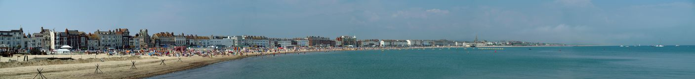 Panorama del lungonmare di Weymouth Immagini Stock Libere da Diritti