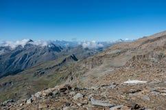 Panorama del macizo de Monte Rosa cerca de Punto Indren Área de Alagna Valsesia foto de archivo