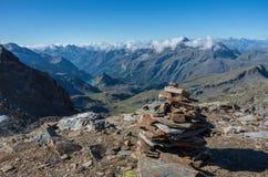 Panorama del macizo de Monte Rosa cerca de Punto Indren Área de Alagna Valsesia fotografía de archivo