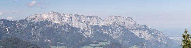 Panorama del macizo de Unterberg imagen de archivo libre de regalías