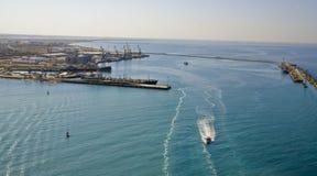 Panorama del mar Caspio Imágenes de archivo libres de regalías