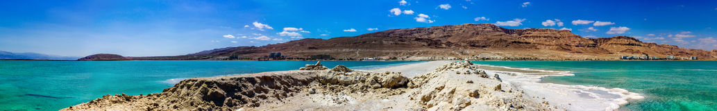Panorama del mar Morto Immagine Stock Libera da Diritti