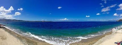 Panorama del mare Fotografia Stock