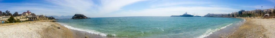Panorama del mare ionico e della città fotografia stock