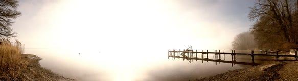 Panorama del molo Fotografia Stock