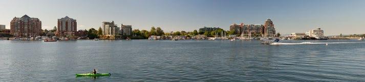 Panorama del molo del pescatore e di James Bay Fotografia Stock