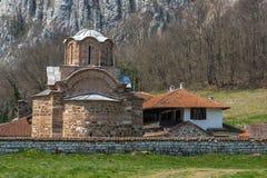 Panorama del monasterio medieval de Poganovo de St John el teólogo Imagen de archivo libre de regalías