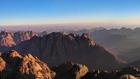 Panorama del monte Sinaí almacen de video