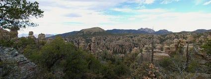 Panorama del monumento nacional de Chiricahua Foto de archivo libre de regalías