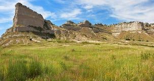 Panorama del monumento nacional del peñasco de Scotts, Nebraska Foto de archivo