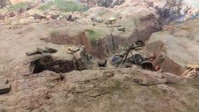 Panorama del monumento in Pleven e cannoni fotografia stock libera da diritti