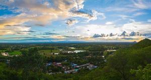 Panorama del moutain del paesaggio Fotografie Stock Libere da Diritti