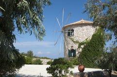 Panorama del mulino a vento Fotografia Stock Libera da Diritti
