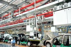 Panorama del negozio di assemblea dell'automobile Fotografia Stock