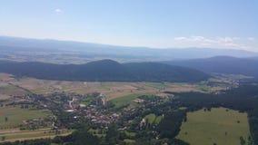Panorama del Niederösterreich dell'alta parete Immagini Stock