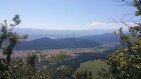 Panorama del Niederösterreich dell'alta parete Fotografia Stock