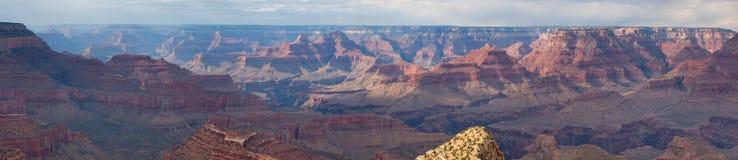 Panorama del NP del grande canyon Immagini Stock Libere da Diritti