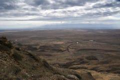 Panorama del ojo del pájaro de las montañas del Cáucaso Foto de archivo libre de regalías