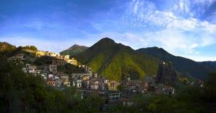 Panorama del orsomarso, Italia Fotografia Stock Libera da Diritti
