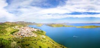 Panorama del paesaggio, Alange, Spagna Fotografia Stock Libera da Diritti