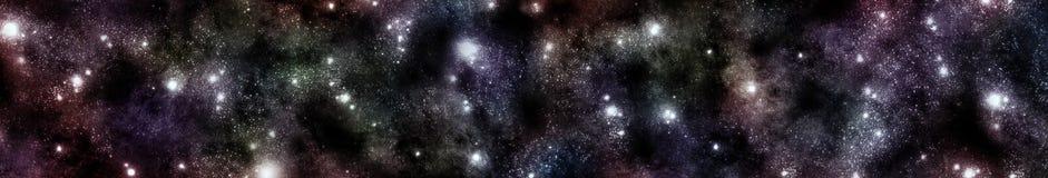Panorama del paesaggio cosmico illustrazione di stock