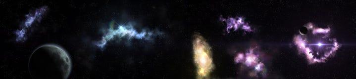 Panorama del paesaggio cosmico royalty illustrazione gratis