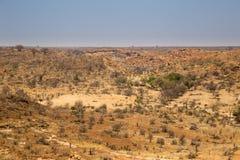 Panorama del paesaggio del deserto nel parco nazionale di Mapungubwe, Sudafrica Immagine Stock